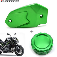 For Kawasaki z900 Z900 Motorcycle Brake Master Cylinder Oil Filter Fluid Reservoir Cover Cap z800 Z 800 13-16