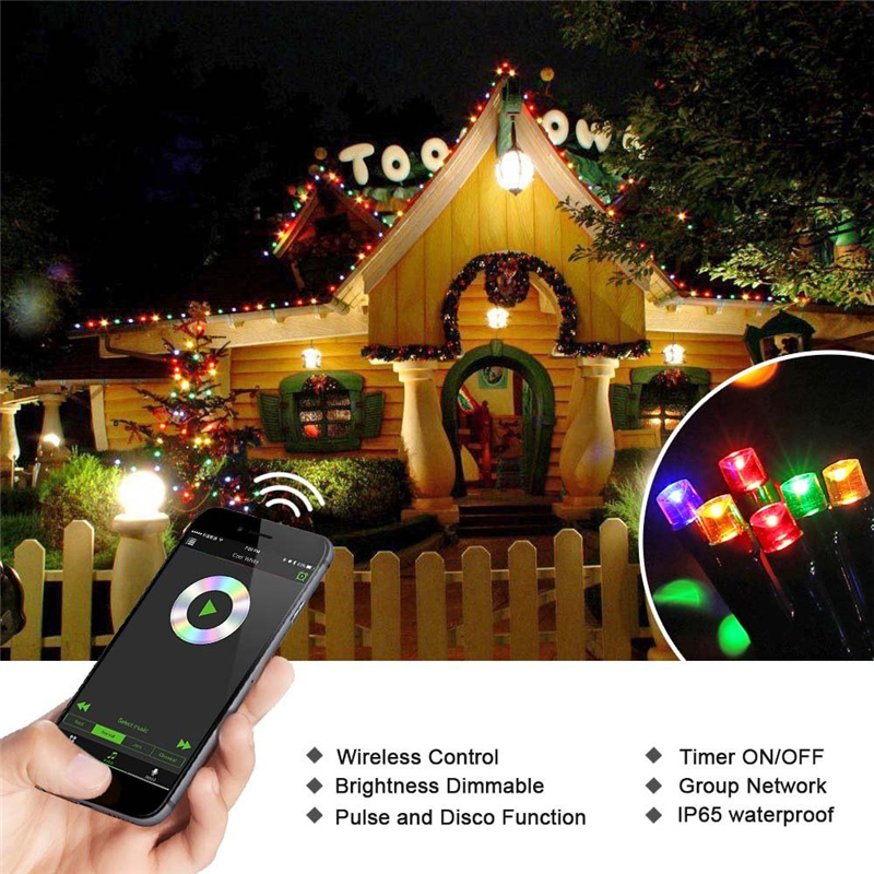 ... Dimmable LED Christmas Lights (14) ... - New Hot Dimmable LED Christmas Lights, 200 LED 65ft Mini String