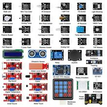 45 In 1 sensörler modülleri başlangıç kiti daha iyi 37 in 1 sensör kiti Arduino için UNO için R3
