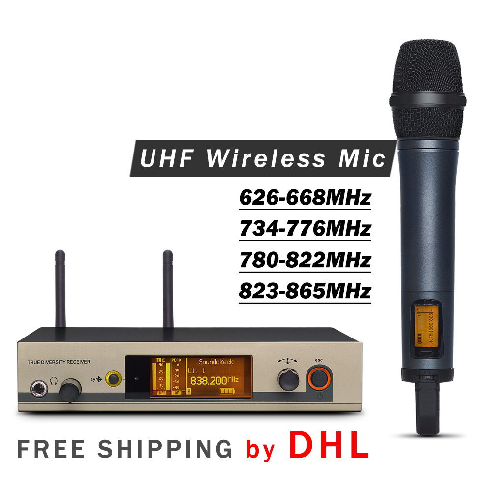 FREE SHIPPING BY DHL Professional 335 G3 UHF Wireless Single Handheld Microphone System with Aluminum Case