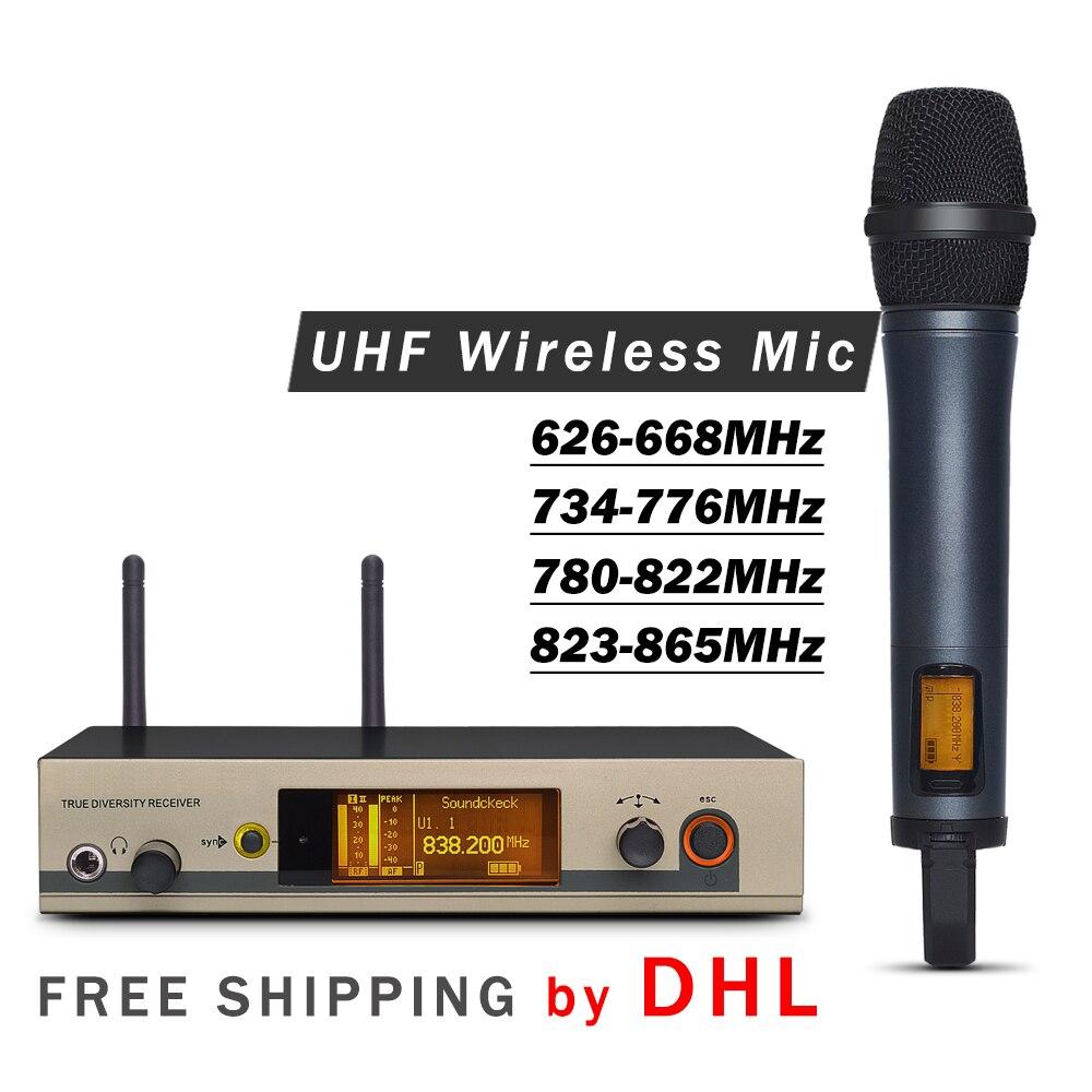 Livraison gratuite par DHL!! Système de Microphone à main unique sans fil professionnel 335 G3 UHF avec boîtier en aluminium pour scène-in Microphones from Electronique    1