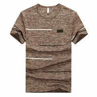 2019 nouvelle grande taille M ~ 7XL 8XL 9XL marque d'été hauts et t-shirts séchage rapide Slim Fit T-shirt hommes vêtements de sport à manches courtes T-shirt