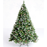 1.2m 1.5m 1.8m 2.1m Environmental Protection PVC Leaves Christmas Tree with Snowflake and Pinecone