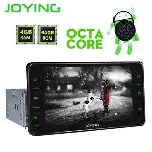 Image 5 - JOYING een din autoradio Android 8.1 4GB Ram 64GB Rom ondersteuning 3G/4G Octa core GPS stereo FM AM DSP 6.2 inch universele autoradio