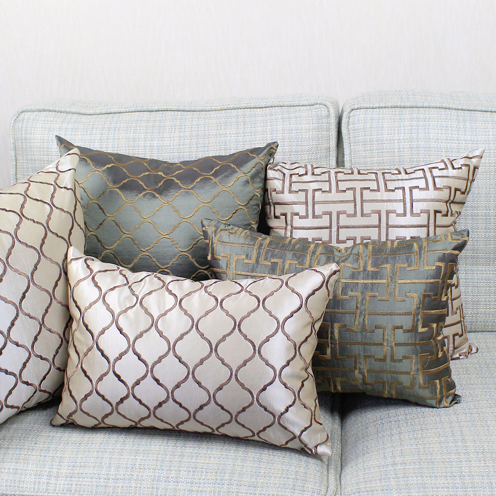 Embroidered Sofa Cushion Cover 30x50/40x40/45x45/40x60/50x50/55x55/60x60cm Throw Pillow Cover Decorative Pillow Case Car