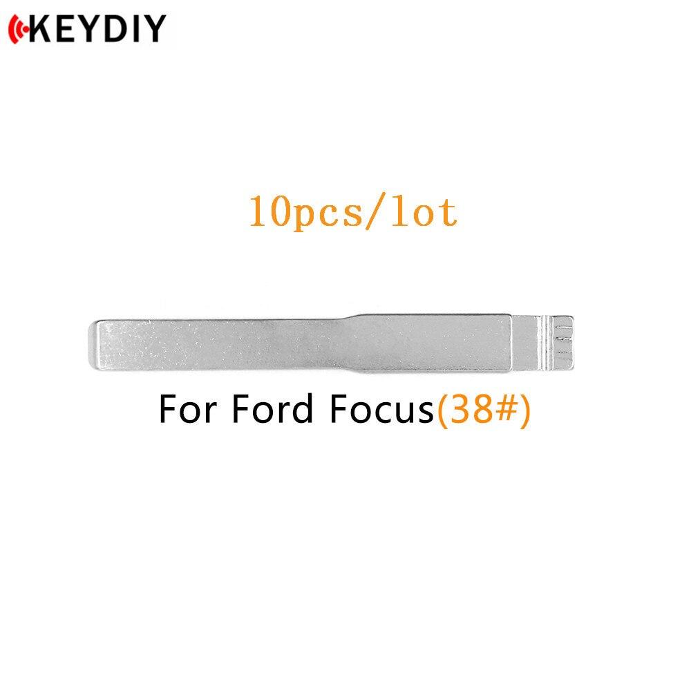 KEYDIY 10 шт./лот, металлический пустой откидной ключ KD/VVDI/JMD, удаленное лезвие HU101, тип лезвия № 38 для Changan для Ford Focus