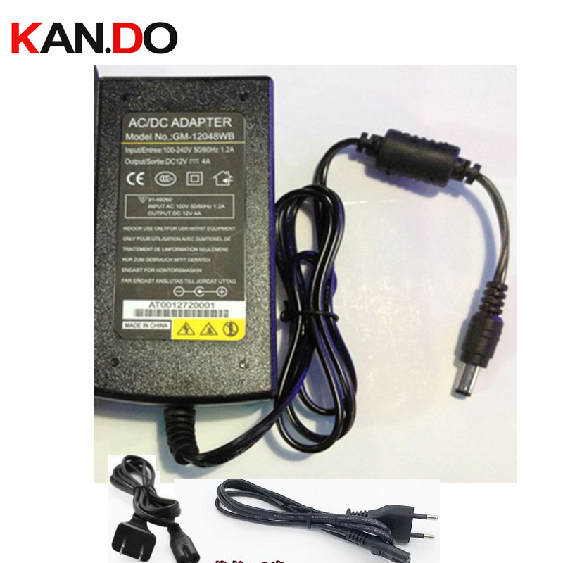 US/Eu camera power box power adaptor AC transformer 12V 4A DC adaptor 110-240V to 12V Power Supply 5.5x2.1mm DC 12V power ac to dc 12v 1a power adaptor with 5 4mm dc plug eu type 110 240v