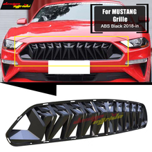 For Mustang Front Bumper Kidney Racing Grills Front Mesh ABS glossy black 1:1 Replacement Fits For Ford Mustang grill grille 18+ цена
