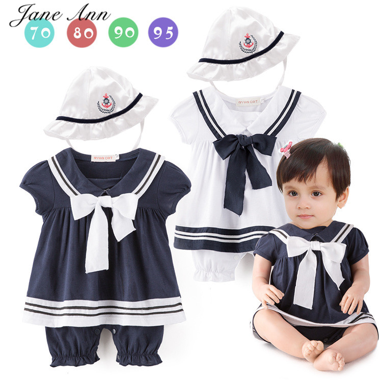 Baby girls boy infant toddler white blue navy sailor romper+hat summer short sleeves playsuit jumpsuit costume party clothes 2017 toddler infant baby boy shoes navy blue casual newborn boys sneaker soft sole girls shoes tenis menino