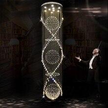 купить LED Luxury crystal chandeliers light villa hall foyer lamps lobby LOFT restaurant stairway crystal drop lights safe packaging по цене 65066.07 рублей
