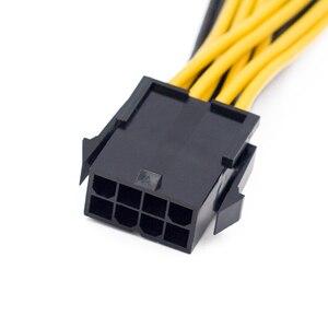 Image 3 - Cable de alimentación de placa base de 8 a Dual 8 pines EPS 12V, divisor en Y, funda adaptadora