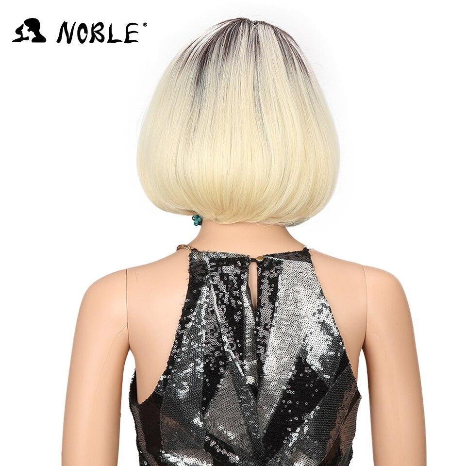 Noble Hair Cosplay Paryk Styled 10 Inch Short Bob Paryk För Kvinnor - Syntetiskt hår - Foto 4