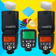For Canon Nikon DSLR Camera YONGNUO YN560TX YN-560TX Flash Controller +2X YN560 III YN560III YN-560III YN560-III Speedlite Flash