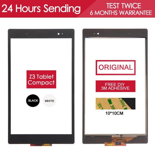 ОРИГИНАЛ Испытания Датчик Сенсорный Планшетный ПК Для Sony Xperia Z3 Tablet Compact Сенсорный Экран Стеклянная Панель Частей Клей