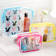 Storage Bags Portable transparent waterproof wash bag travel cosmetics sundries storage bag multi-function plastic storage bag(China)