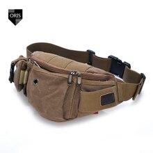 Luxury High Quality Canvas Waist Pack Belt Bag Fashion Casual Waist Bag Durable Portable Messenger Bag Hot sale men's Waist Bag