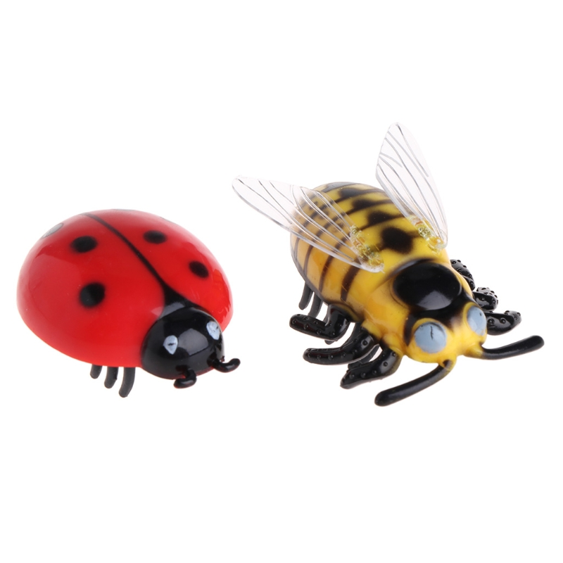 Mini Electric Dog Cat Pet Toy Interactive Cute Ladybird Beetle Shape Cat Toys Walking Insect Toys Supplies For Cat