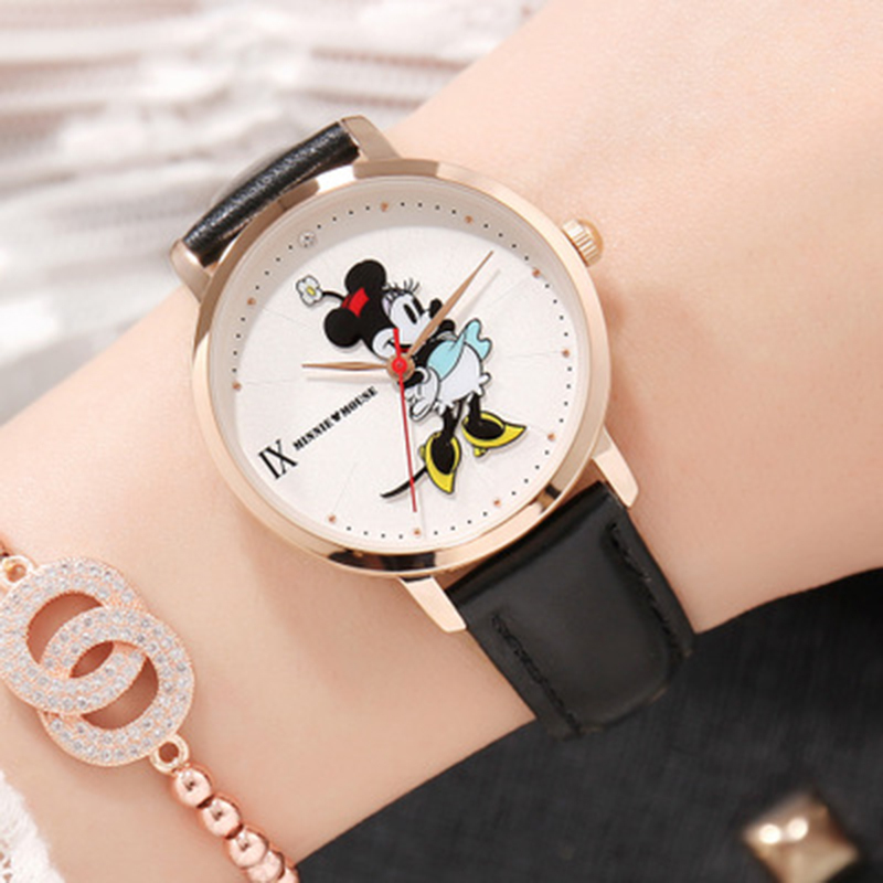 все цены на Dinsey Mickey Mouse Watches Women Luxury Famous Quartz Wrist Watches for Woman Ladies Watch Female Clock Hodinky Montre Femme онлайн