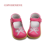 COPODENIEVE Spring Children Natural Leather Shoes Casual Shoes Leather Shoes Girls Bow Sequins Size 4 9
