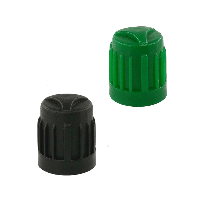 1000pcs Plastic Tire Valve Caps with Rubber O ring Seal Black Green High Quality Car Tyre