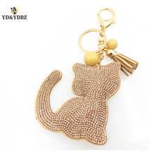 YD&YDBZ Cute Little Cat Pendant Key Chain Fashion Ladies Bag Accessories Pink Kitten Trendy Gift Girl