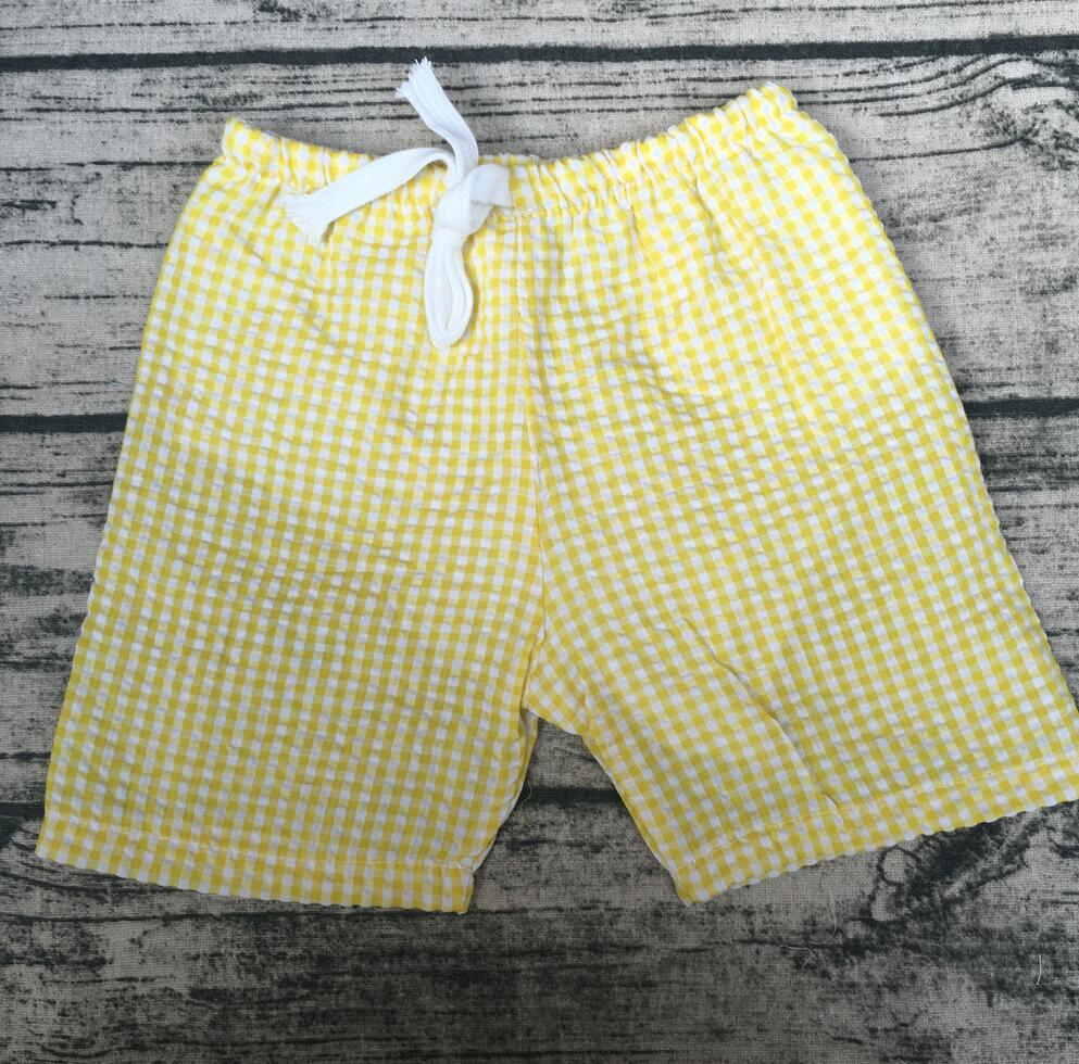 07c9485150 US $400.0  Wholesale hot sale fashion simple design yellow plaid children  baby boys shorts seersucker swimming pants-in Shorts from Mother & Kids on  ...