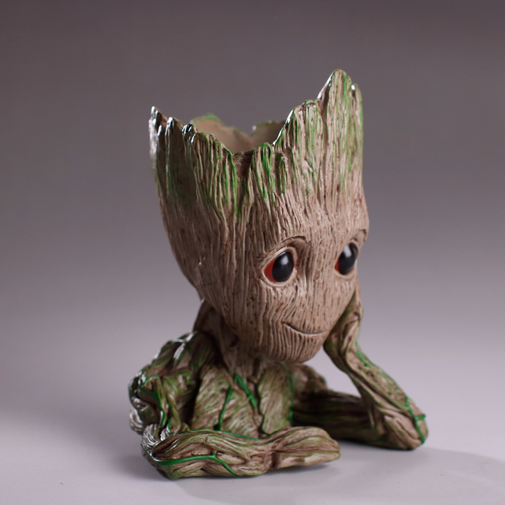 2018 Tree Man Grootted hands up Phoneholder Action Figure Guardians of The Galaxy 2 Model pen pot and flower pot Toy guardians team up vol 2