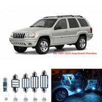 10pcs Canbus Car LED Light Bulbs Interior Package Kit For 1999 2004 Jeep Grand Cherokee Map