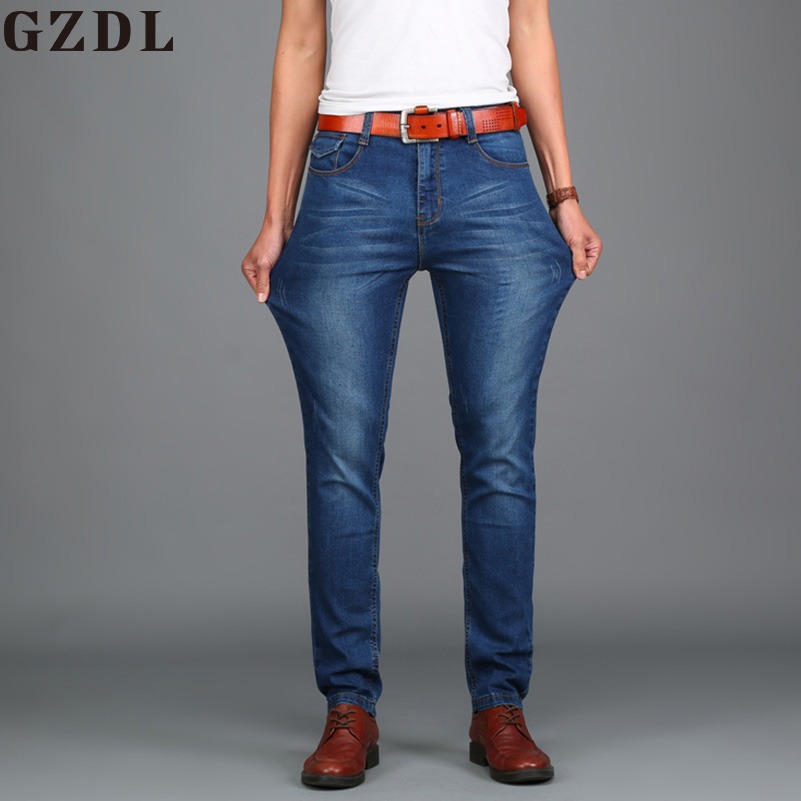 Summer Jeans Men Straight Mens Pants Youth Mens Business Casual Trousers Large Stretch Pants Size 28-48 CL4658.
