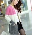 Un nuevo suministro de suéter femenina cardigan de manga larga chaqueta de lana en la parte larga de color Han Banchao.