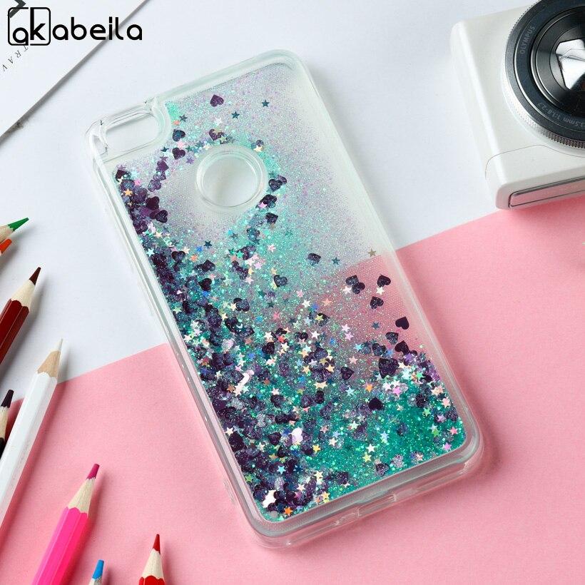 AKABEILA Glitter Liquid Cases For Xiaomi Redmi Note 5A Prime Case Soft TPU for REDMI Y1 LITE Note5A Dynamic Sand Back Cover
