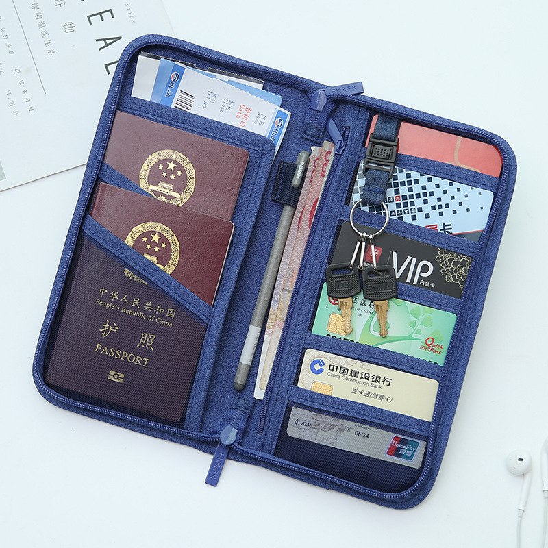 OKOKC Polyester Passport Cover Fashion Unisex Korean Style Passport Cover Travel Wallet Document Holder Organizer
