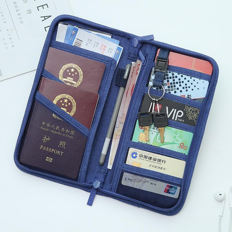 Okokc poliéster pasaporte moda unisex estilo coreano pasaporte Cartera de viaje documento organizador del sostenedor