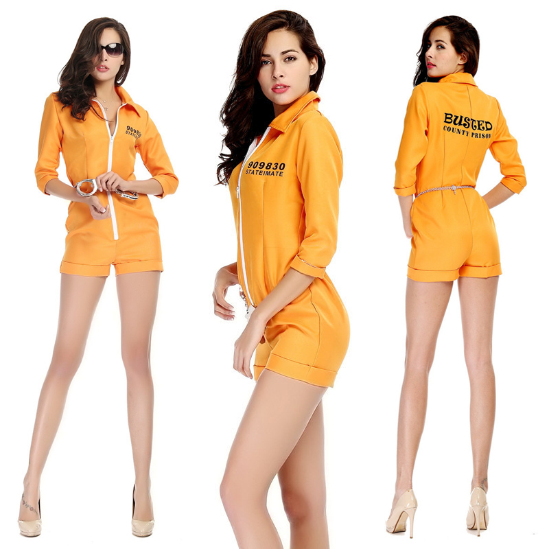 Adult Prison Break Convict Inmate Prisoner Fancy Dress Costume Mens Jail Stag Do