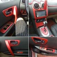 Car Styling 3D/5D Carbon Fiber Car Interior Center Console Color Change Molding Sticker Decals For Nissan Qashqai 2006 2015 J10