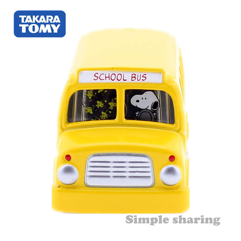 Tomica Dream No 154 Snoopy School Bus Car Takara Tomy Auto Car Motors Vehicle Diecast Metal Model New Gift Kids Toys