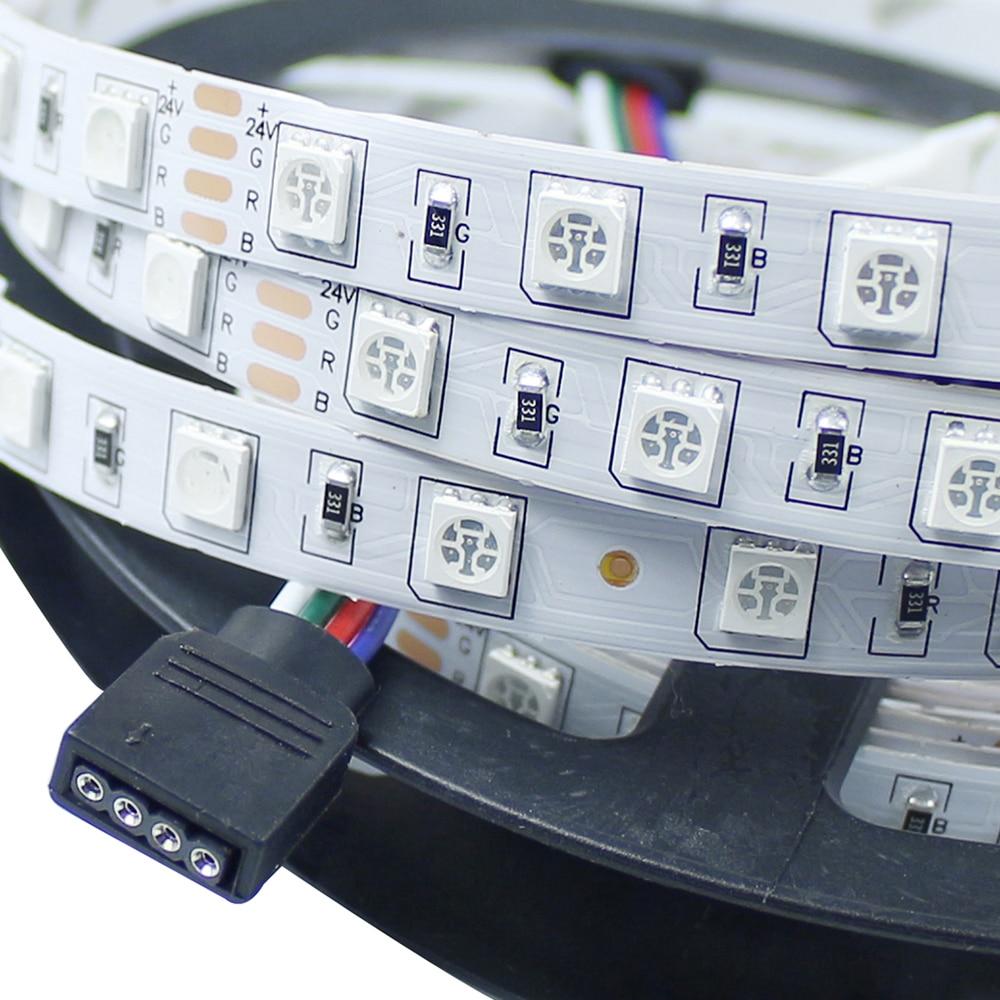 DC24V nem vízálló 5050 RGB Led szalagfény 5M 300Leds 60Leds / M - LED Világítás - Fénykép 3