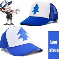 Dipper Gravity Falls Cartoon New Curved Bill BLUE PINE TREE Hat Cap Trucker Adult Kids Boys