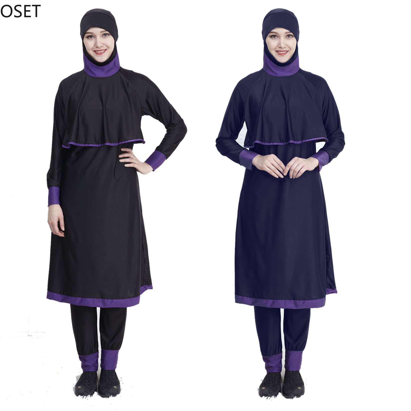 Hijab Women's Swimming Suit Long Full Cover Burkini Muslim Swimwear Ladies Hides Swimsuit Woman Islamic Swim Wear Modest Bathing