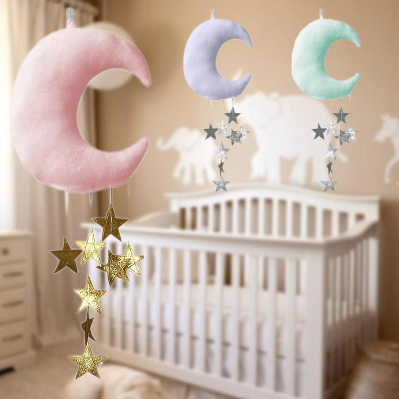 Baby pillow decorate hanging moon star pillow cushion Newborn princess baby room decoration Photograph props Bedroom Decor R4