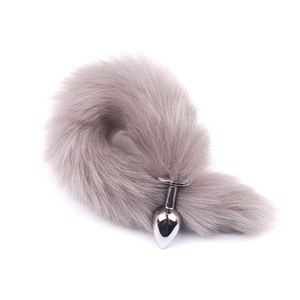 Image 3 - Feather Fox Tail Metal Anal Plug Erotic Accessories Anus Toy Butt Plug Sex Toy For Woman And Men Sexy Butt Plug Adult Accessorie