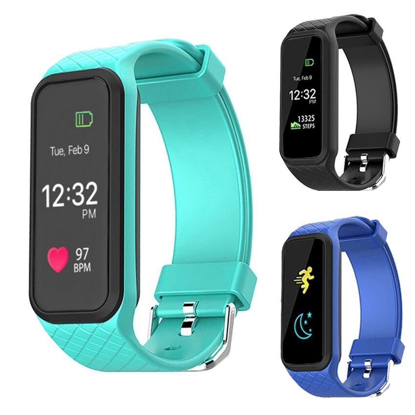 imágenes para Nueva 16 M A Todo Color LCD Inteligente Muñequera 24 H Monitor de Ritmo Cardíaco cardiaco salud smartwatch para ios xiaomi sony pk mi banda 2/fit 3