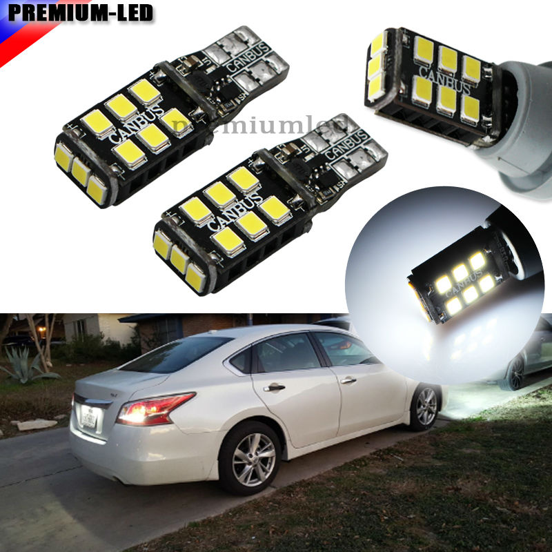 2pcs Xenon White Error Free T10 W5W 194 168 LED Bulbs For Euro Car Reverse Lights and Parking Position Lights t10 canbus obc error free bulbs interior emitter led drl 194 w5w car lamps external auto lights 10 smd 3030 xenon white