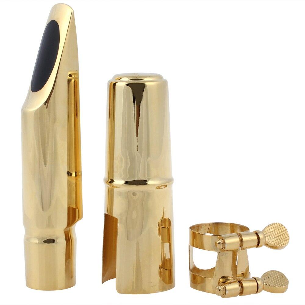 SLADE Boquilla de saxofón tenor de metal chapado en oro dorado 7 con - Instrumentos musicales - foto 3