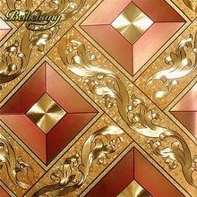 цена на European KTV gold silver square papel de parede 3d wallpaper rolls TV background of wall paper 3d modern wallpaper for walls 3 d