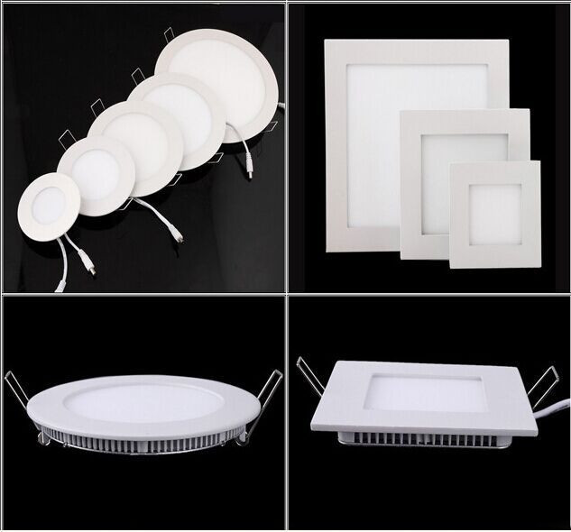 Dhl Free Shpping 18W Round Square Led Panel