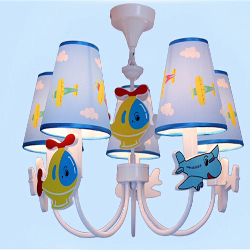 Led Home Lighting Lamp Modern Chandelier Kids Room Cartoon LED Chandeliers for The Bedroom E14 110V-220V Led Home Lighting Lamp hghomeart cartoon kids room chandelier led luminaria room iron chandelier lighting creative eye bird chandeliers for the bedroom