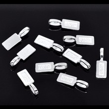 50Pcs Free Shipping Hot New DIY Silver Plated Tag Glue on Bail Fashion Jewelry Making Findings Component 21x7mm цена