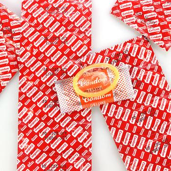 200 sztuk partia 100 sztuk partia prezerwatywy smak Extra Safe super-smarowanie lateksowa prezerwatywa dla mężczyzn zabawka erotyczna najlepiej z pełnym pakietem oleju tanie i dobre opinie 200 100pcs Kwiaty Szczupła Latex Red Orange with DOT