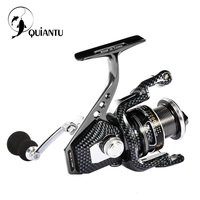 QUIANTU Brand 5 5 1 4 7 1 14BB Waterproof Carbon Drag Spinning Reel Large Spool